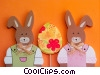 Easter bunnies Stock photo
