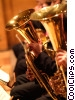 tuba players Stock photo