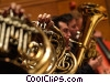 French horn players Stock photo