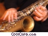 Stock photo  of a saxophonist