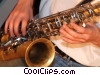 saxophonist Stock photo