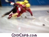 speed skaters Stock photo