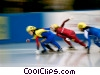 Stock photo  of a speed skaters