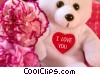 Stock photo  of a valentines day teddy bear