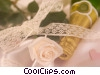 Stock photo  of a champagne and a rose