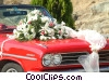 car and wedding flowers Stock photo