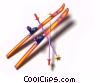 downhill skis Stock photo