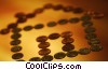 Stock photo  of a house of coins
