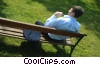 businessman relaxing on a park bench Stock photo