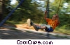 boy on a swing Stock photo