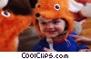 Stock photo  of a child in mouse costume at