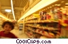 child at the supermarket Stock photo