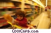 Stock photo  of a child with grocery cart
