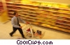 shopping with grocery cart at the supermarket Stock photo