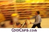 Stock photo  of a shopping with grocery cart