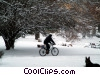 cycling in winter Stock photo