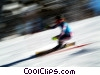 Stock photo  of a Downhill Skiing