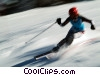 Stock photo  of a downhill skier