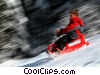 Stock photo  of a tobogganing