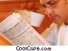 Stock photo  of a having coffee and reading