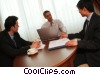 businessmen discussing strategy Stock photo