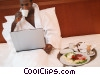 Stock photo  of a businessman having breakfast
