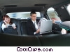 business people in a limousine Stock photo