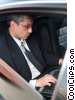 businessman working in a limousine Stock photo