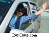 Stock photo  of a woman driving her car