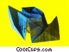 origami folded money Stock photo