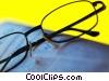 eyeglasses with newspaper