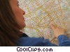 Stock photo  of a travel agent pointing at a map