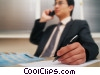 Stock photo  of a businessman talking on the