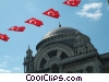 Turkey Flag Stock photo