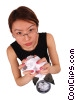 businesswoman crumpling paper Stock photo