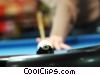 Stock photo  of a male pool player