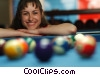 female pool player Stock photo