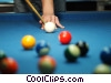 pool player Stock photo