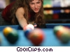Stock photo  of a female pool player