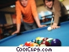 male and pool players Stock photo
