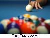 Stock photo  of a pool player