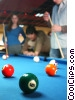 Stock photo  of a people playing pool