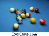 Stock photo  of a pool ball