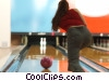 female bowler Stock photo
