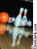 Stock photo  of a bowling balls and pins