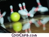 bowling balls and pins Stock photo