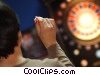 man throwing darts Stock photo