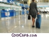Stock photo  of a businesswoman walking with her