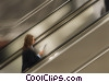 woman on a escalator Stock photo