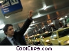 Stock photo  of a businessman hailing a cab